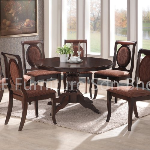 RDT8888 Acona Round Dining Table & DC255 Astana Dining Chair