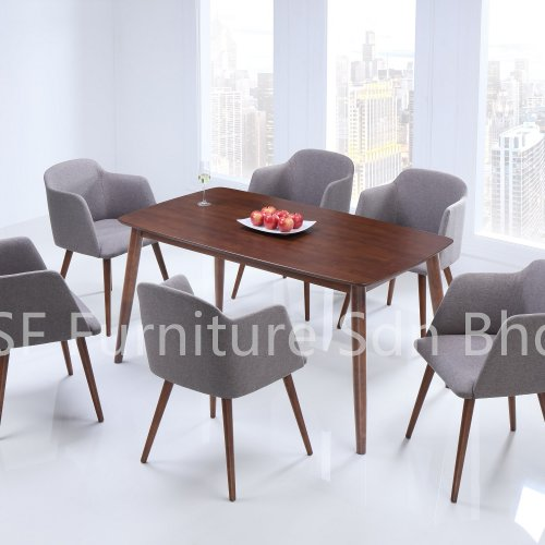 DT8500 Pavilion Dining Table & DC8582 Rapp Dining Chair