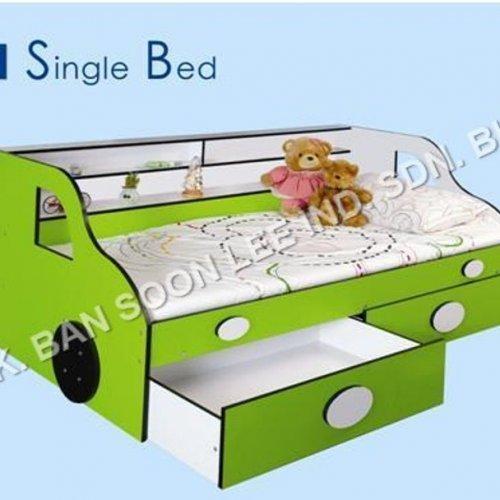 SINGLE BED C/W DRAWER