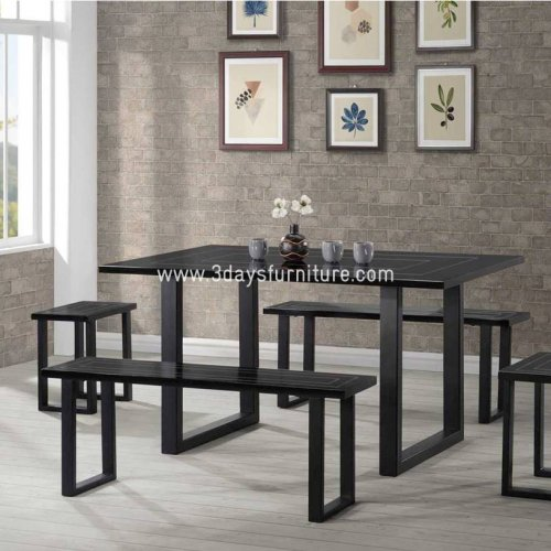 3D-Mavel Dining Set(1+2 Chair+2 Bench)