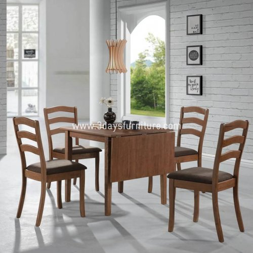 3D-Renata Drop Leaf Dining Set(1+4)