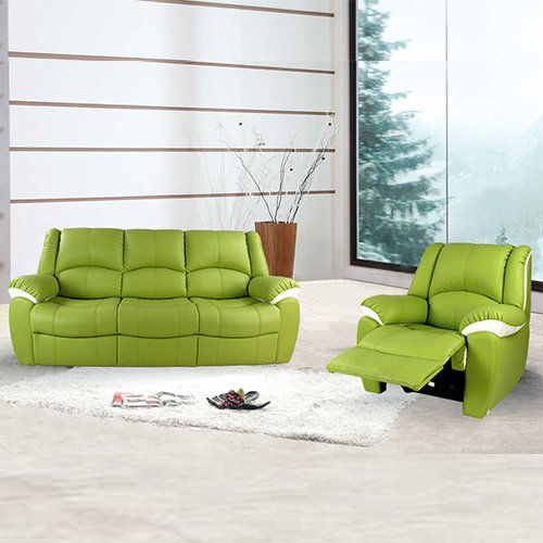 Norman Reclining Berry Leather Sofa