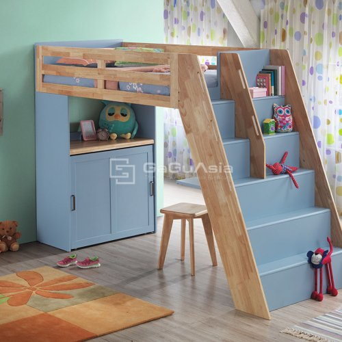 Loft Bed with Folding Guest Bed