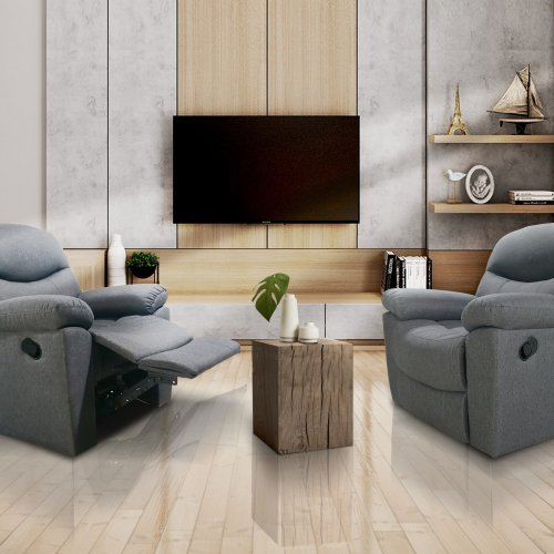 Fabric Recliner Sofa/ High Quality & Comfortable Chair/ Grey Color