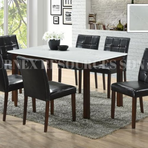 PEARL TABLE + RUBY CHAIR 1+6 DINING SET