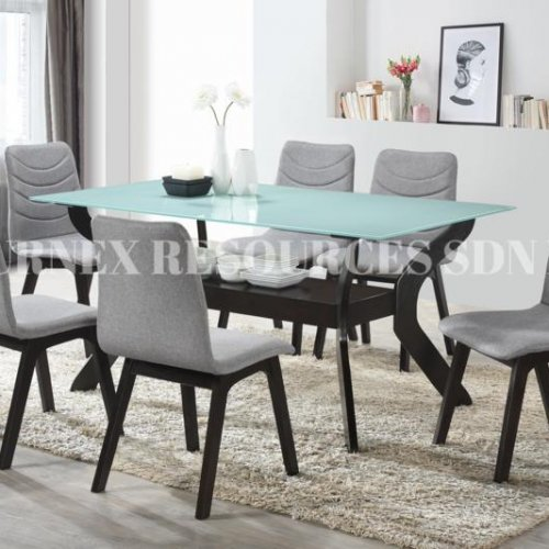 QUINCY TABLE + ASHLEY CHAIR 1+6 DINING SET