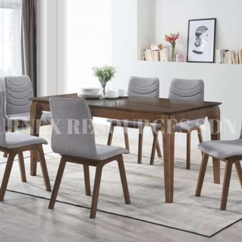 VICTORIA TABLE + ASHLEY CHAIR 1+6 DINING SET