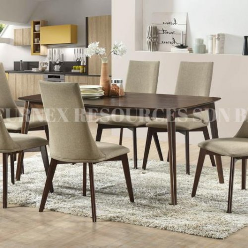 CHARLOTTE TABLE + IXORA CHAIR 1+6 DINING SET