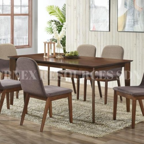 GRACIA TABLE + RIVA CHAIR 1+6 DINING SET