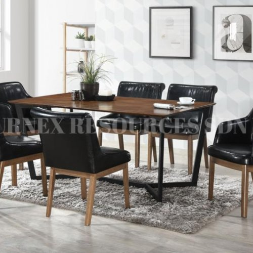 ASHLEY TABLE + QUINCY CHAIR 1+6 DINING SET