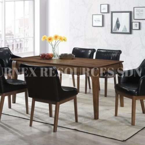 VICTORIA TABLE + QUINCY CHAIR 1+6 DINING SET