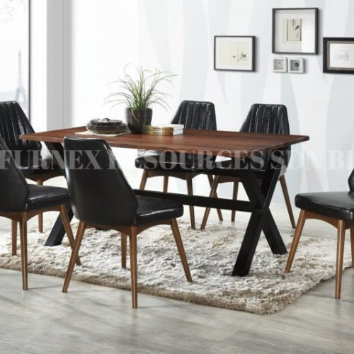 ROCCO TABLE + IVORY CHAIR 1+6 DINING SET