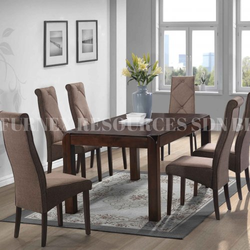 MORIN TABLE + JUDIS CHAIR 1+6 DINING SET