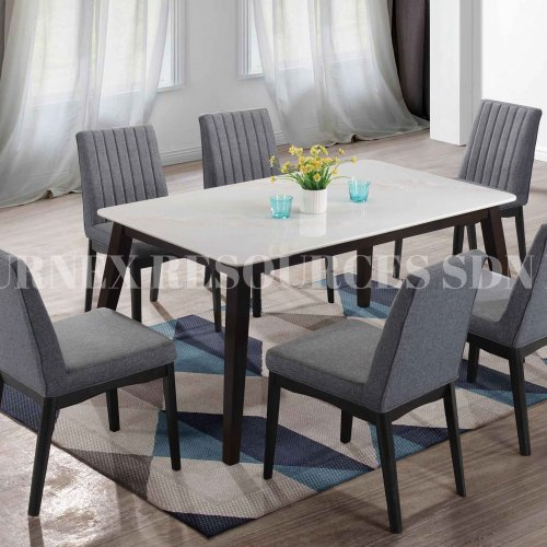 PURE TABLE + GRACIA CHAIR 1+6 DINING SET