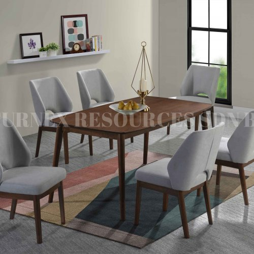 CHARLOTTE TABLE + CARLSON CHAIR 1+6 DINING SET