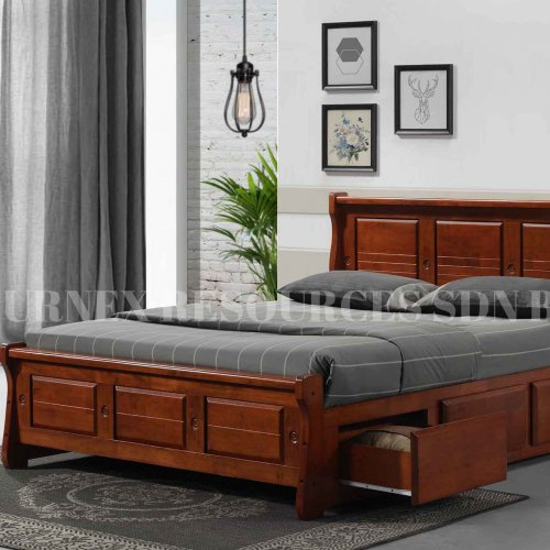 MESSI QUEEN BED WITH 6 DRAWERS
